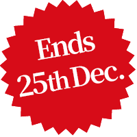 Ends 25th Dec.